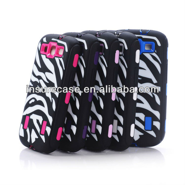 Cool!! New product Unique Zebra lines design robot series mobile phone case for Samsung Galaxy S3 I9300