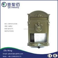 Cast iron enclosure painting waterproof post box