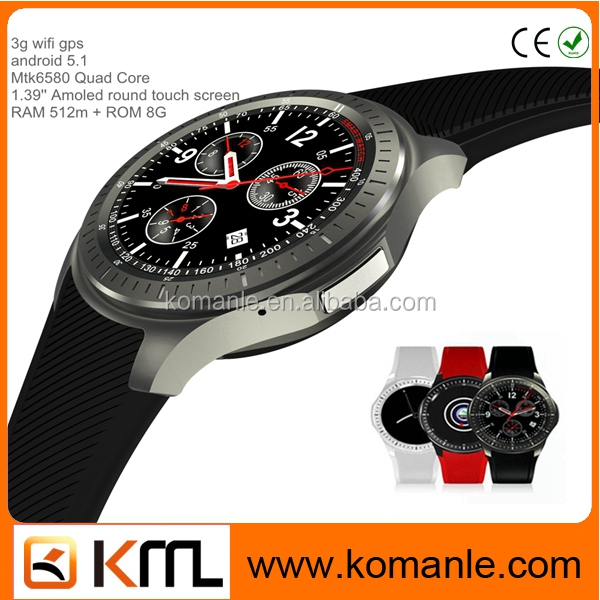 hot sale 1.39'' Amoled touch screen 512M RAM + 8G ROM GPS bluetooth smart watch mobile dm368 smart watch