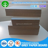 Hard stiff laminated gray carton board for puzzle paper chipboard