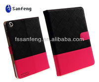 Soft hand feeling colorful notebook leather case for ipad 4/3/2;best quality heavy duty grid case for ipad 2/3/4 cover case