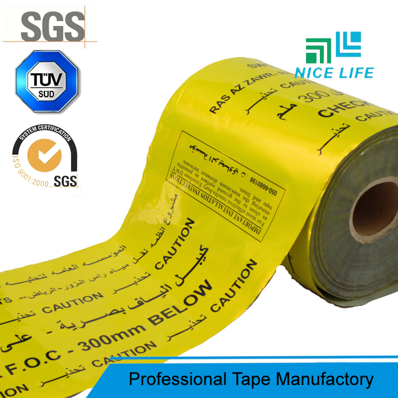 Underground Electric Cable PE Barricade Tape