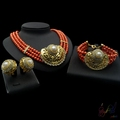 coral beads jewelry sets natural fancy red jewellery set indian bridal jewelry sets