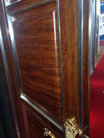 ChinaHigh quality finished aluminium doors casement doors with wood grain surface