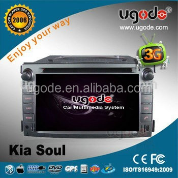 Two Din in Dash Car Multimedia Player for Kia Soul 2010-2011