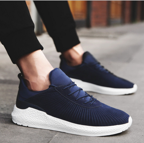 Wholesale fashionable breathable men's sneaker running shoes casual men shoes