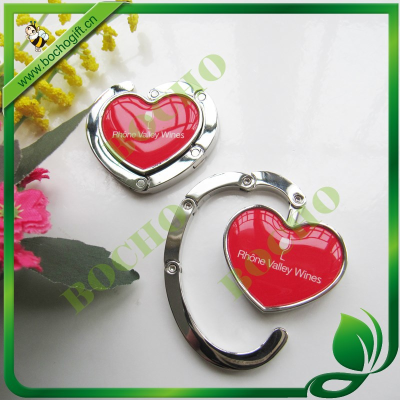 heart shaped foldable purse hook