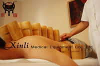 Chinese traditional therapy Bamboo cupping for Body massage