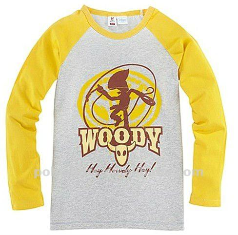 Children's long sleeve cotton t shirts