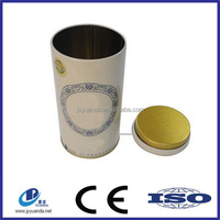 Factory direct hot sale round metal tea/coffee packaging tin boxes/cans tin jars/containers/conisters
