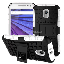 For Motorola Moto G Cover Dual Layer Armor Silicone Hard Non slip Plastic Skin Holder Stand Case For Motorola Moto G