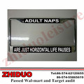Common Metal license plate frame