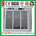 2017 new design double glass aluminum doors/stacker sliding doors