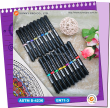 Promotional Dual tips Double end Art Sketch Twin marker pens