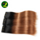 Factory Ombre human hair extension Silky Straight weave brazilian hair bundles