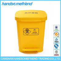 30 liters medical waste box,waste bin,plastic waste bin