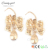 Candygirl brand earings for women 2017 designs lady fashion long bow-knot earring gold drop earring