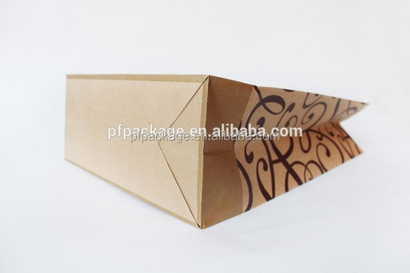 Hot sale customized ziplock stand up kraft paper bag