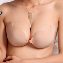 Wholesale invisible strapless push up enhancer breast super stickiness No harm A B C D wing shape bra gel adhesive nude bra