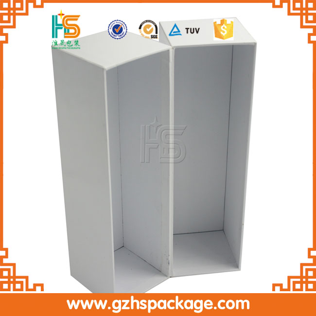 wholesale open door white wine glass bottle gift box cardboard paper packaging shipping wine box