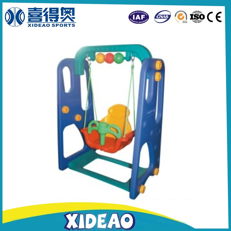 plastic used indoor playground equipment small slide and swing XA-T0801