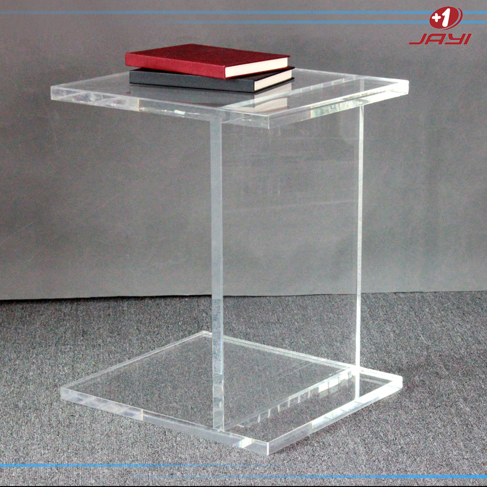 Lucite table d 39 appoint plexiglas pi destal clair transparent acrylique ta - Table basse acrylique ...