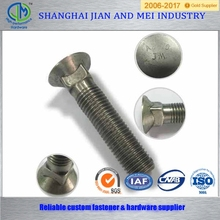Flat head metric stainless steel carriage bolts suppliers
