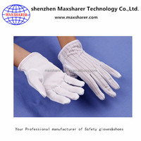 China price PVC dotted gloves safety esd cheap work gloves