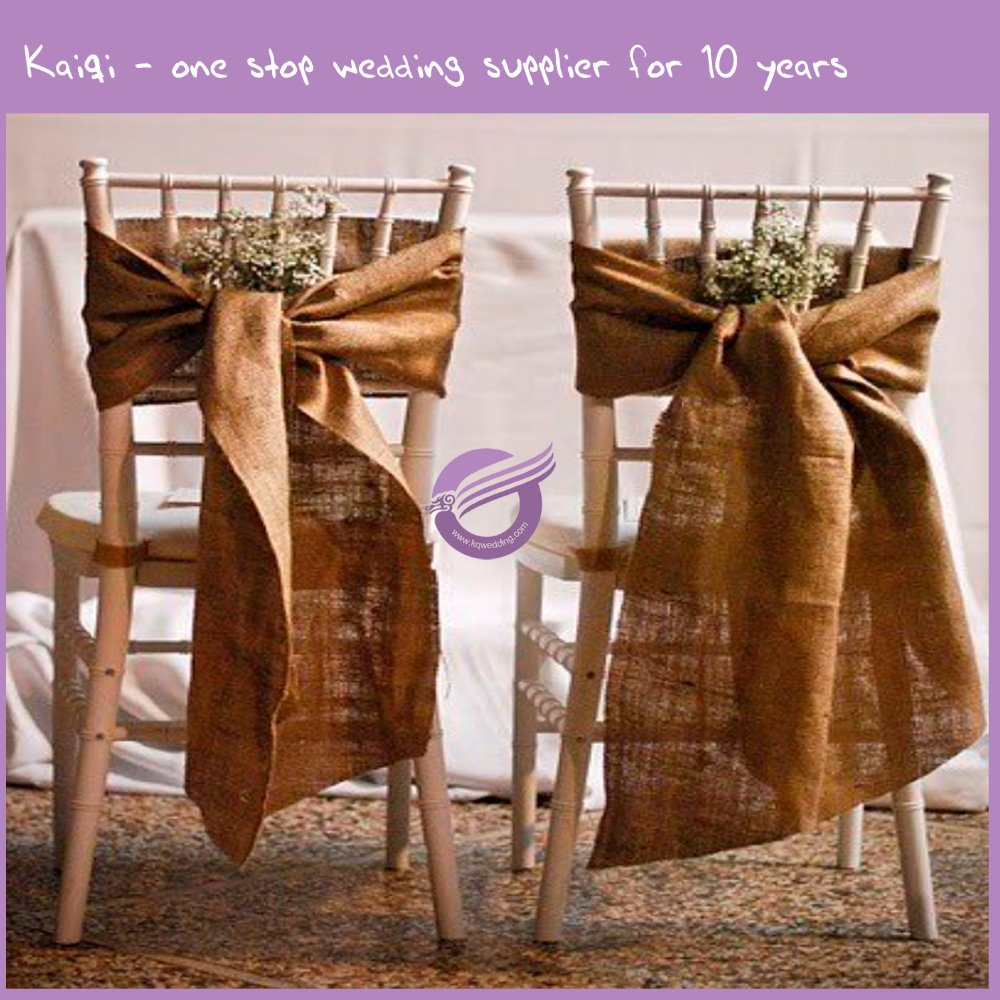 19138 christmas wedding offer cheap jute hessian burlap chair sash
