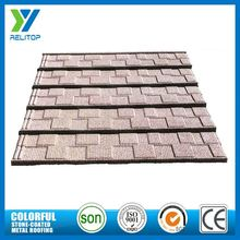 Recyclable Al-Zinc Stone Coated Metal Roofing Shingles