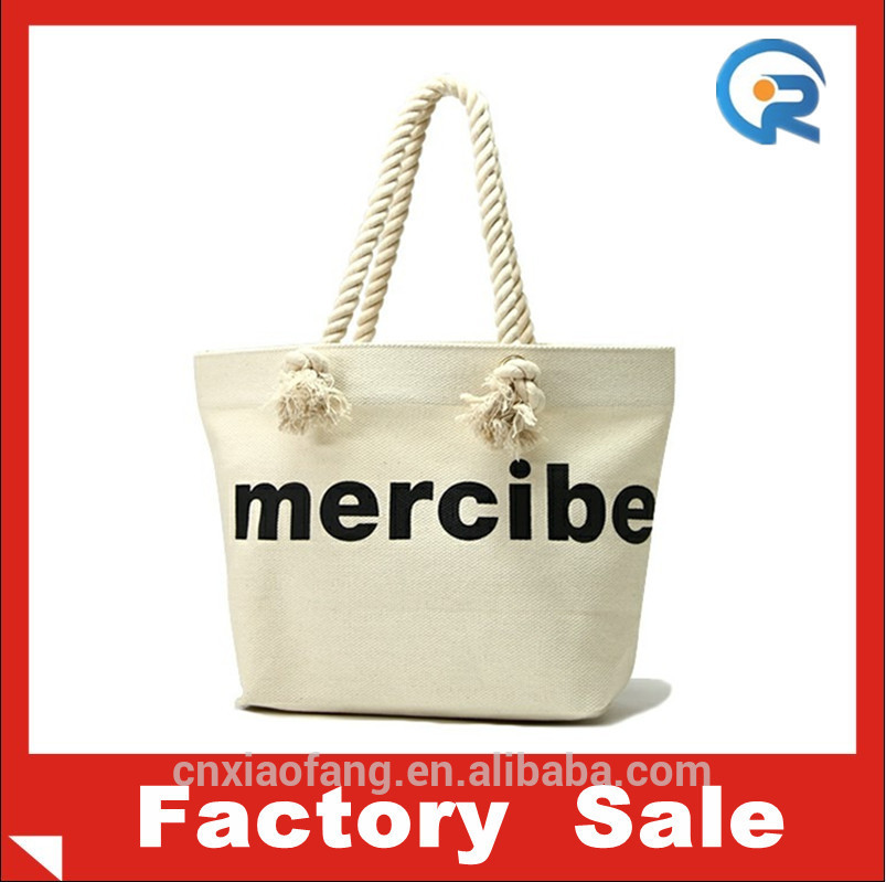 high quality natural cotton tote bag for shopping