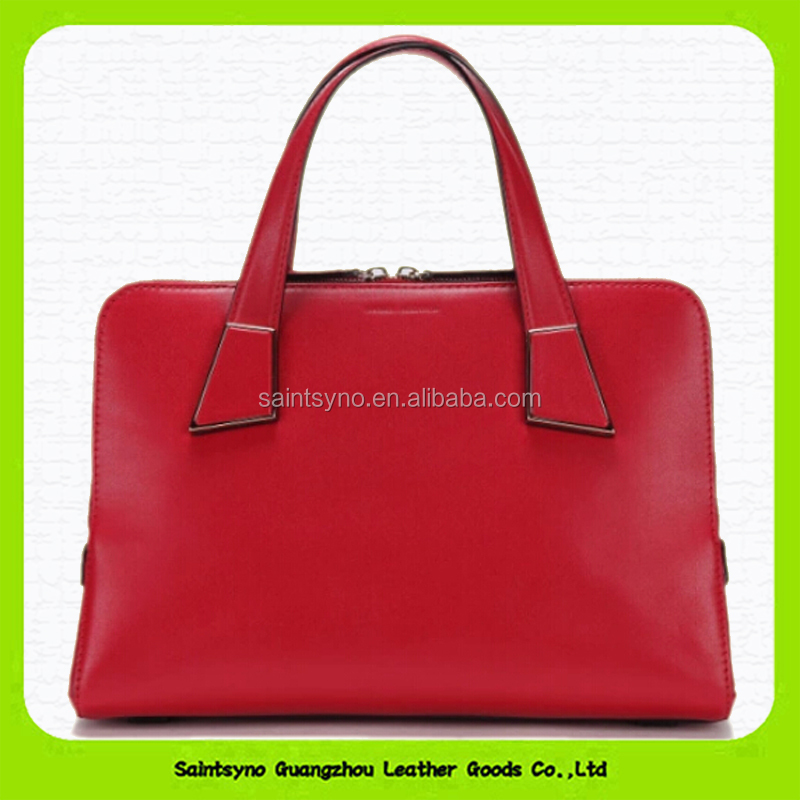 15049 Customized Logos genuine leather handbags for women wholesale china