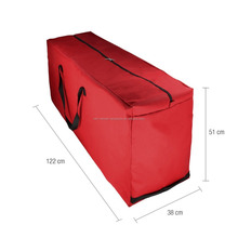 "Oxford Cloth Heavy Duty Christmas Xmas Artificial Tree Storage Bag Soft Case, Water Resistant, Red (Medium, 47.3""L x 15""W x 30"""
