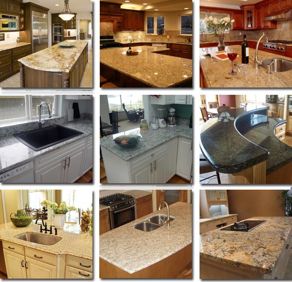 Natural Stone Baltic Brown Granite Prefab Kitchen Islands