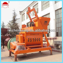 JS1000 ISO9001 concrete mixture machine forced type from drect supplier in China for sale