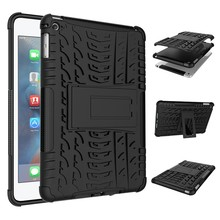 Rugged case for iPad mini 4 Protective Hard case for iPad Mini 4 Shockproof kickstand cover