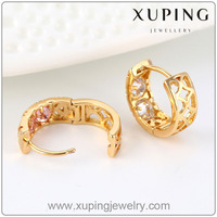 91662 fashion arabic gold earring designs, 18K gold jewelry earring hooks, muticolor stone women hook earring jewelry