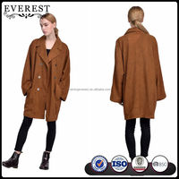 Free Size Leather Coat Women Long Leather Trench Coat