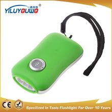 Excellent factory directly aluminum hand crank flashlight