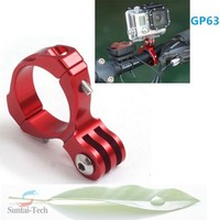 Factory seller Round Shape Aluminum Bike Handlebar Mount Clamp Adapter For Gopro 1 2 3+ Red