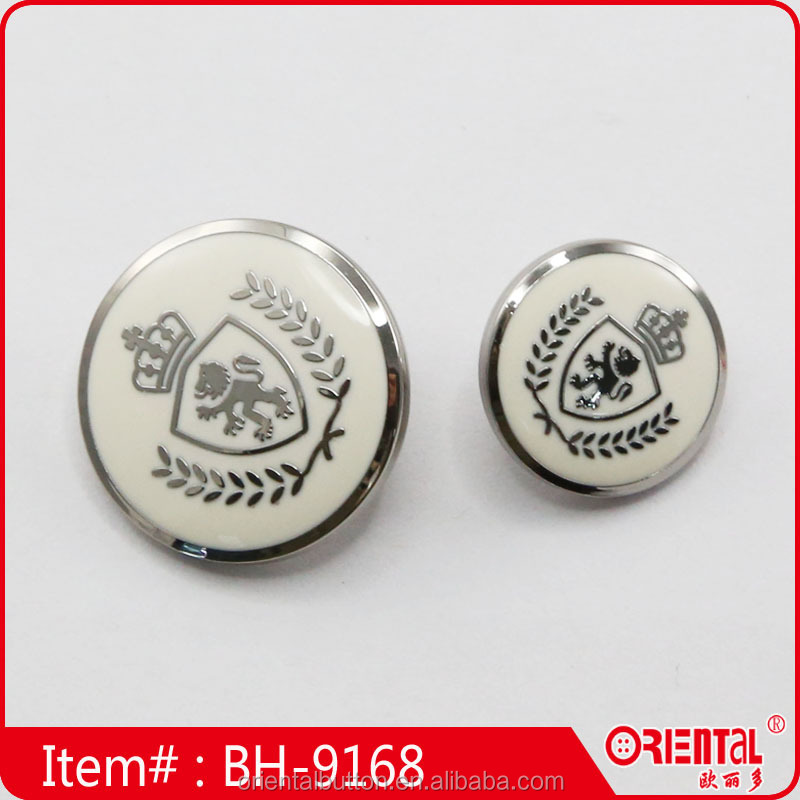 High quality enamel metal military buttons with custom logo