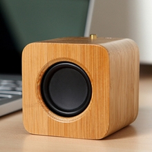 cute cubic speaker 4.0 wooden portable bluetooth speaker for children as toys