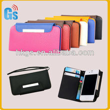 Cool PU Leather Cover Wallet Book Pouch Card Cash Holder Magnetic Flip Case For Apple iPhone 4 4G 4S