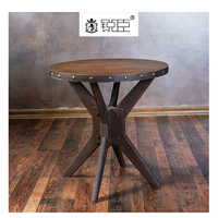 Retail store MDF wood round clothing display table