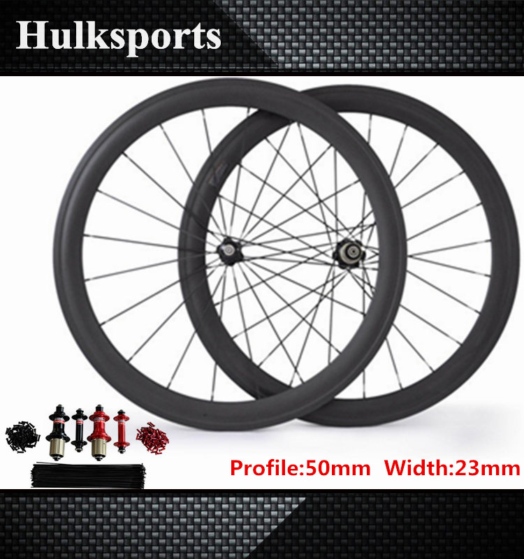 Cheap clincher carbon wheels road bicycle carbon wheelset 50mm depth road bike wheelset