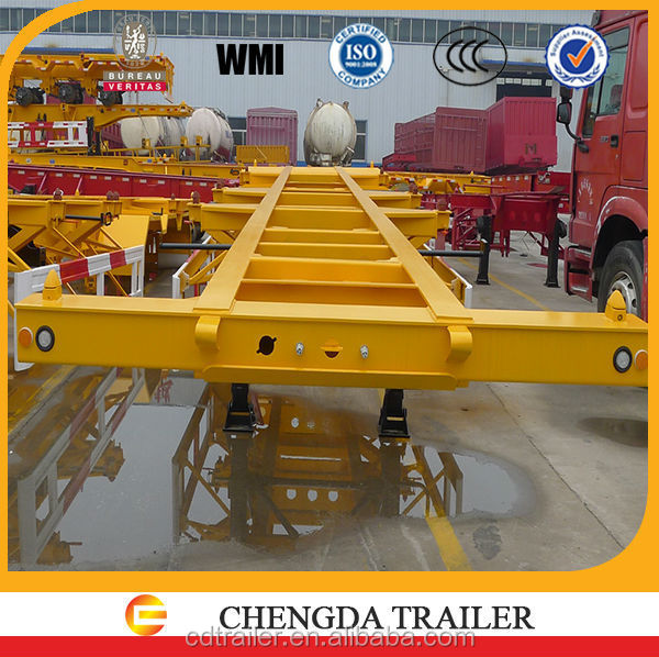 steel frame container skeleton semi trailer for sale 2015
