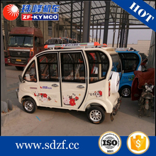 Low price motorized tricycle shop vehicle