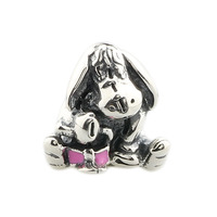 Wholesale Eeyore Cartoon Animal Bead Thai Silver Authentic 925 Sterling Silver Charm for European Bracelet