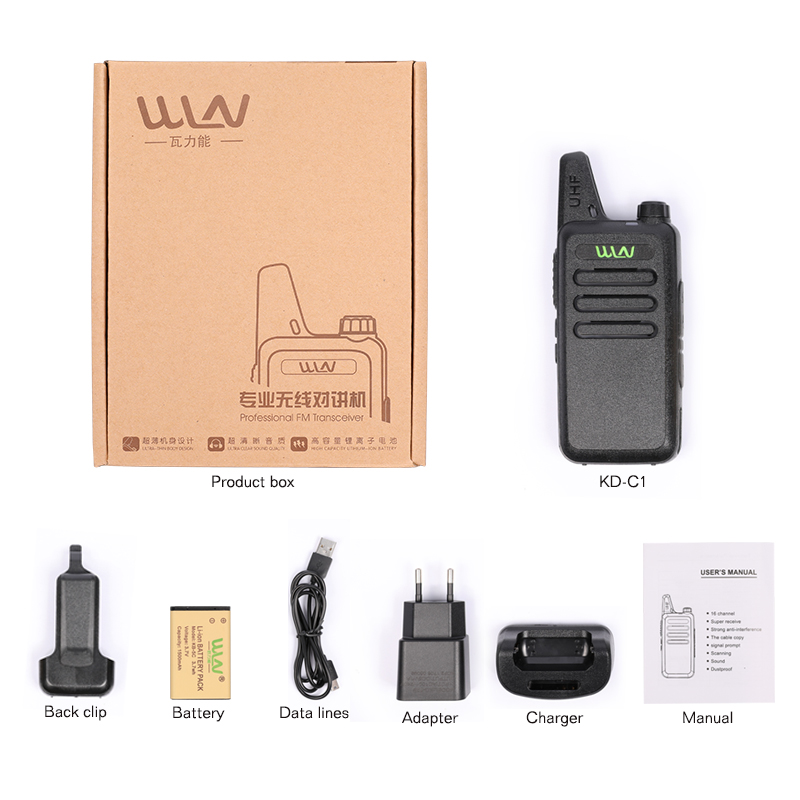 WLN  Zastone black UHF 400-470 MHz long range professional MINI-handheld transceiver two way radio walkie Ham Radio