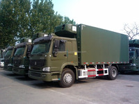 Used man diesel trucks in germany Sinotruk howo display refrigerator truck for sale
